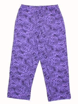 Брюки фиолетовые | 5247966