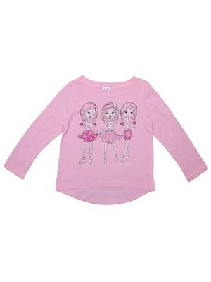 Лонгслів рожевий | 5248028