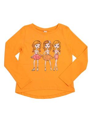Лонгслів помаранчевий | 5248059