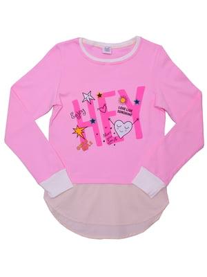 Туника розовая с принтом | 5248254