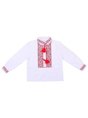 Рубашка-вышиванка белая | 5248348