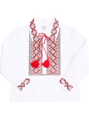 Рубашка-вышиванка белая | 5248349