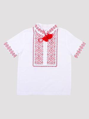 Рубашка-вышиванка белая | 5248350