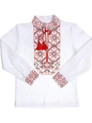 Рубашка-вышиванка белая | 5248353