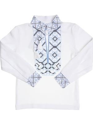 Рубашка-вышиванка белая | 5248354