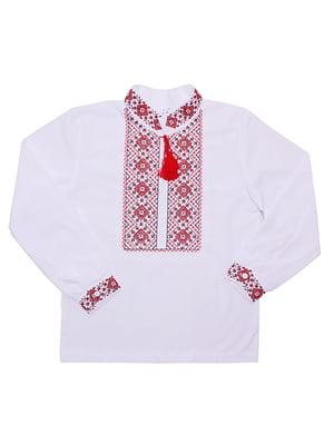 Рубашка-вышиванка белая | 5248358