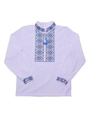 Рубашка-вышиванка белая | 5248359