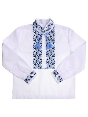 Рубашка-вышиванка белая | 5248360
