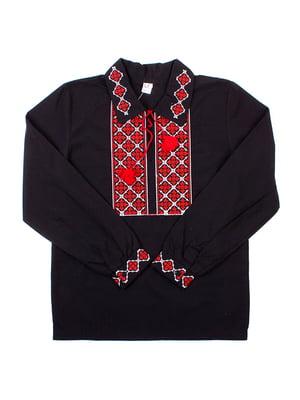 Рубашка-вышиванка черная | 5248362