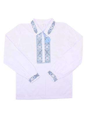 Рубашка-вышиванка белая | 5248363