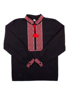 Рубашка-вышиванка черная | 5248365