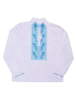 Рубашка-вышиванка белая | 5248366