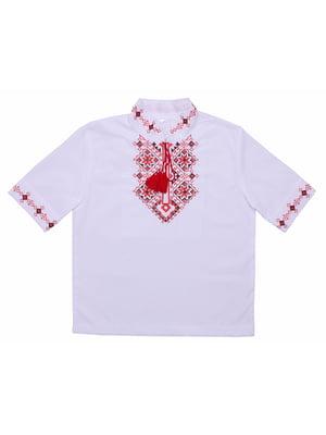 Рубашка-вышиванка белая | 5248367