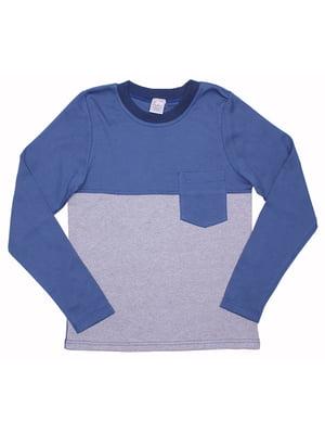 Лонгслив сине-серый | 5248424