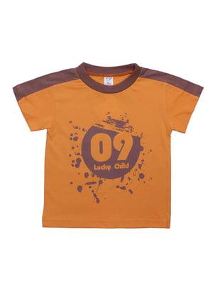 Футболка оранжевая | 5248452