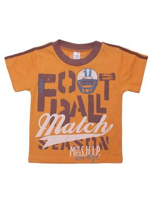 Футболка оранжевая | 5248463