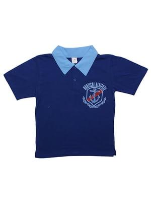 Футболка-поло синяя | 5248476