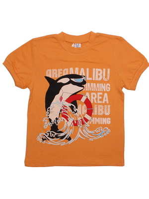 Футболка оранжевая | 5248538