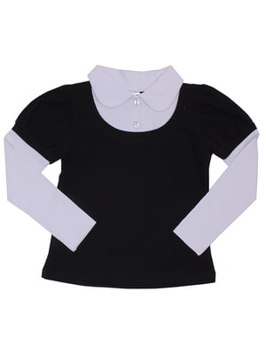 Блуза чорно-біла | 5248653
