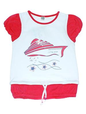 Блуза біло-червона | 5248663