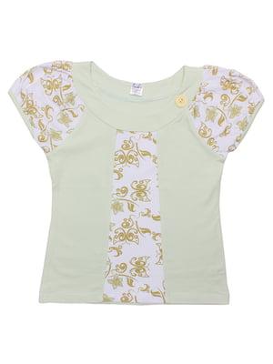 Блуза ментолового кольору | 5248668