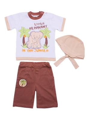 Комплект: футболка, бриджи и бандана | 5249199