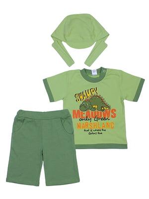 Комплект: футболка, бриджи и бандана | 5249210