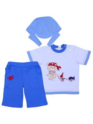 Комплект: футболка, бриджі та бандана   5249211
