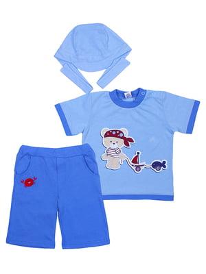 Комплект: футболка, бриджи и бандана | 5249212