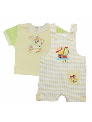 Комплект: футболка и комбинезон   5249213