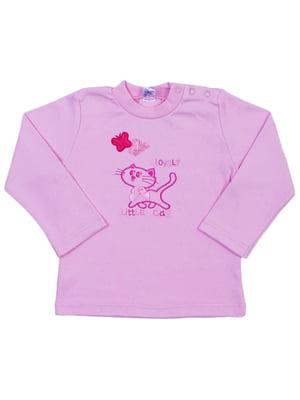 Лонгслів рожевий | 5249791