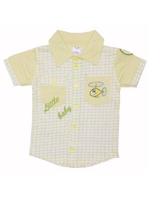 Сорочка жовта в клітинку | 5249838