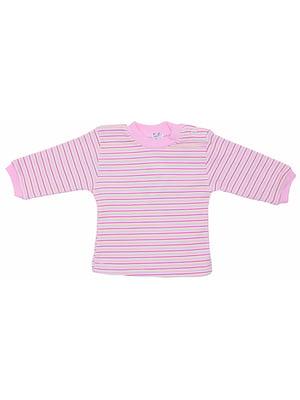 Лонгслів рожевий в смужку | 5249869