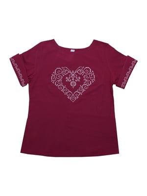 Блуза бордова | 5249901