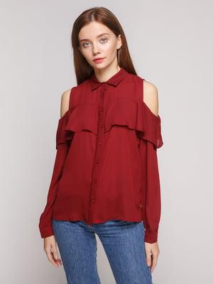 Блуза бордовая | 5218653