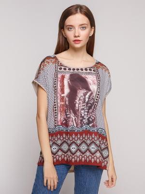 Блуза розовая с рисунком | 5218687