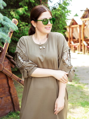 Сукня кольору хакі | 5252147