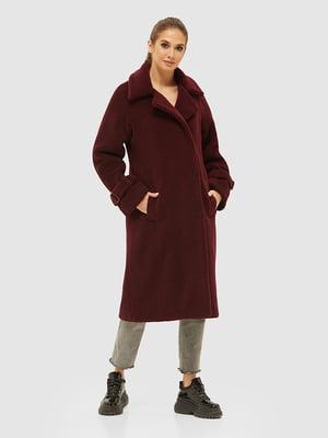 Пальто бордове | 5252563