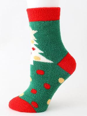 Носки махровые зеленые | 5252690