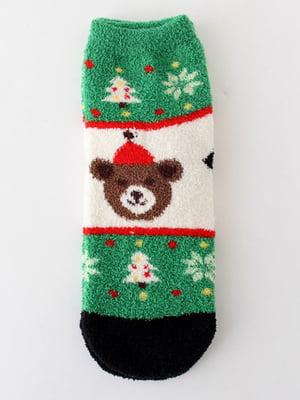 Носки махровые с новогодним рисунком   5252719