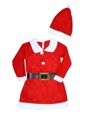 Комплект: сукня з ременем і шапка | 5252743