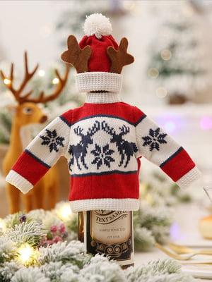Новогоднее украшение для бутылок | 5252662