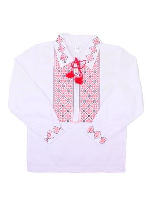 Рубашка-вышиванка белая | 5248351