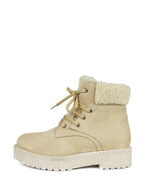 Ботинки бежевые | 5245437