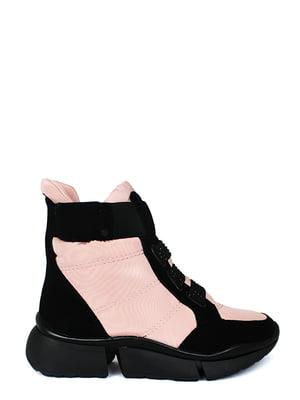 Ботинки черно-розовые | 5253023