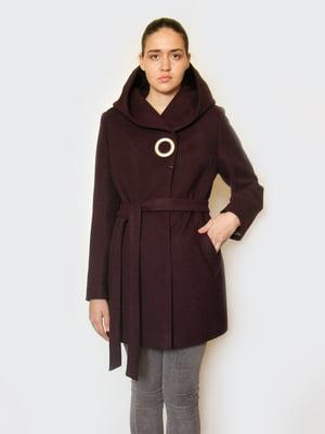 Пальто кольору марсала | 5252121