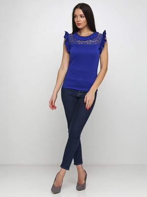 Блуза синяя | 5253201