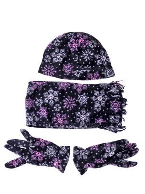 Комплект: шапка, шарф и перчатки | 5253838