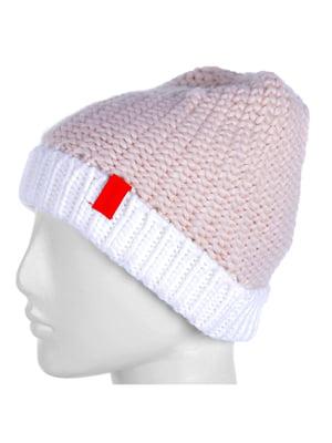 Шапка бело-розовая | 5253904