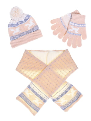 Комплект: шапка, шарф и перчатки | 5254015